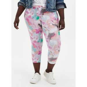 🆕 Watercolour Crop Premium Legging 1X 14 16 NWT